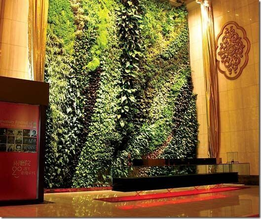 After seeing pics of a vertical garden in Taipei, Taiwan I would ...