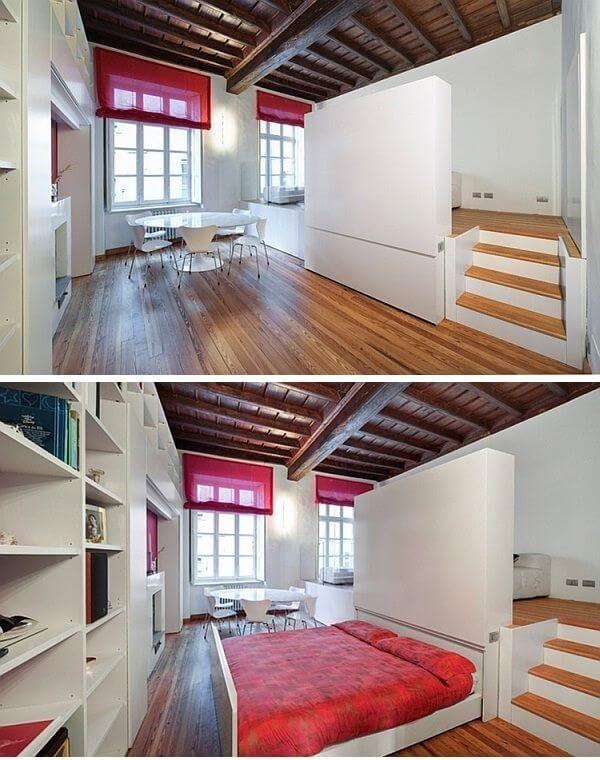 hide bed below floorboards