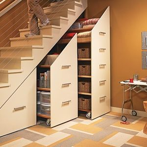 Awesome Under the Stairs Storage