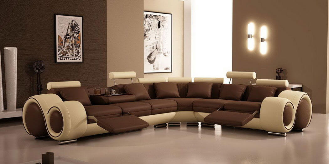 Charming Modern Brown Living Room Painting Idea