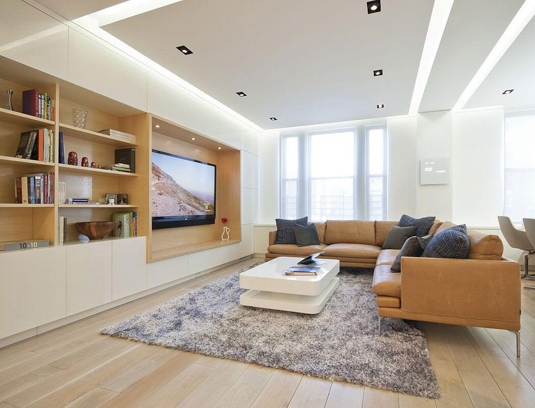 Modern Living Room with Matching Color Palettes