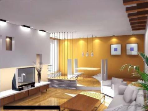 Modern Living Room with a Combination of Yellow and White Colors