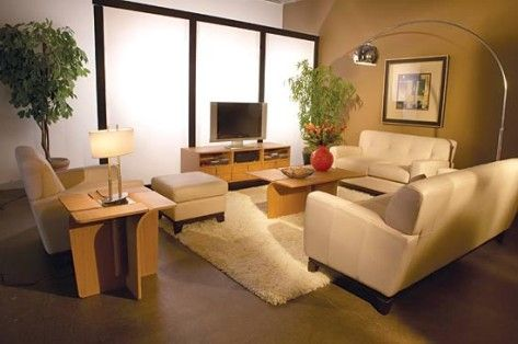 Oriental Type Living Room with Wooden Furniture