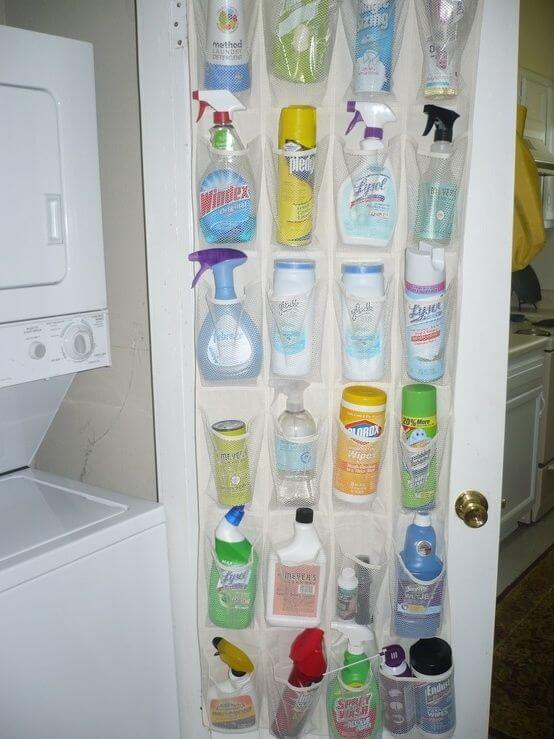 Shoe Organizer for Cleaning Supplies Storage
