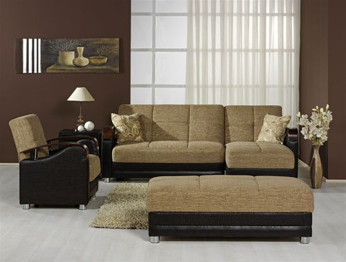 Stylish Living Room with Brown Accent