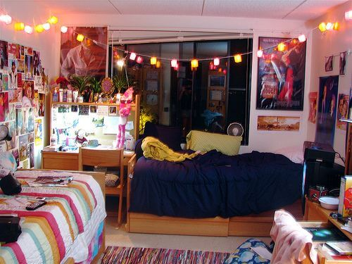 vibrant college kids room