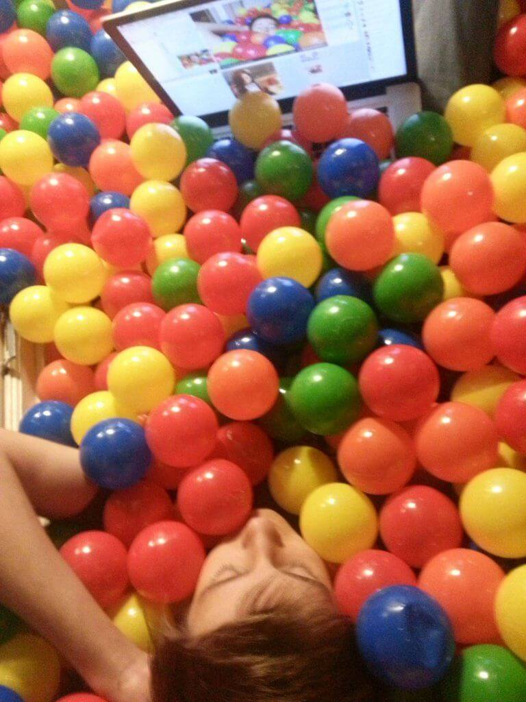 weekend ball pit room