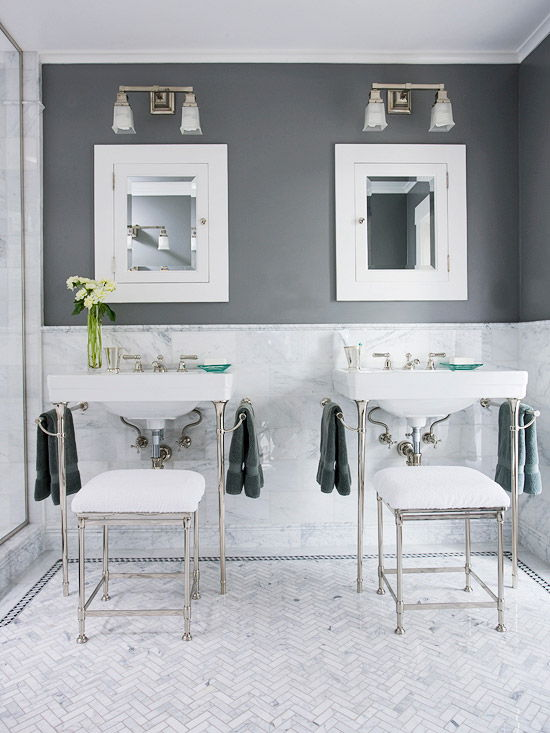 sophisticated color combinations for your bathroom apartment