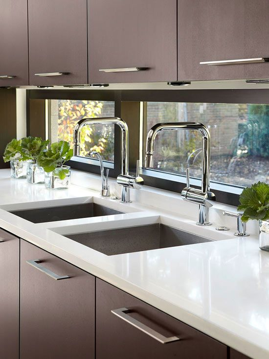 Attirant Enhance The Amount Of Natural Light In Your Kitchen By Creating A Glass  Backsplash. Itu0027s Still Resistant To Water And Moist And Easy To Clean, ...