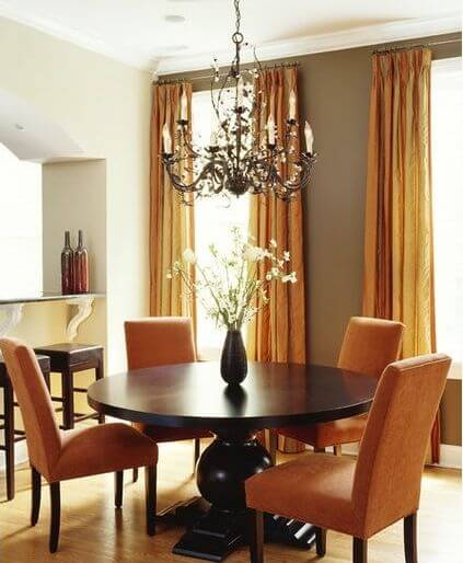 Orange Kitchen Table And Chairs: The Sophisticated Color Greige: 15 Possible Combinations