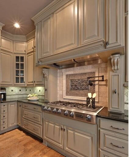 The sophisticated color greige 15 possible combinations - Putty colored kitchen cabinets ...