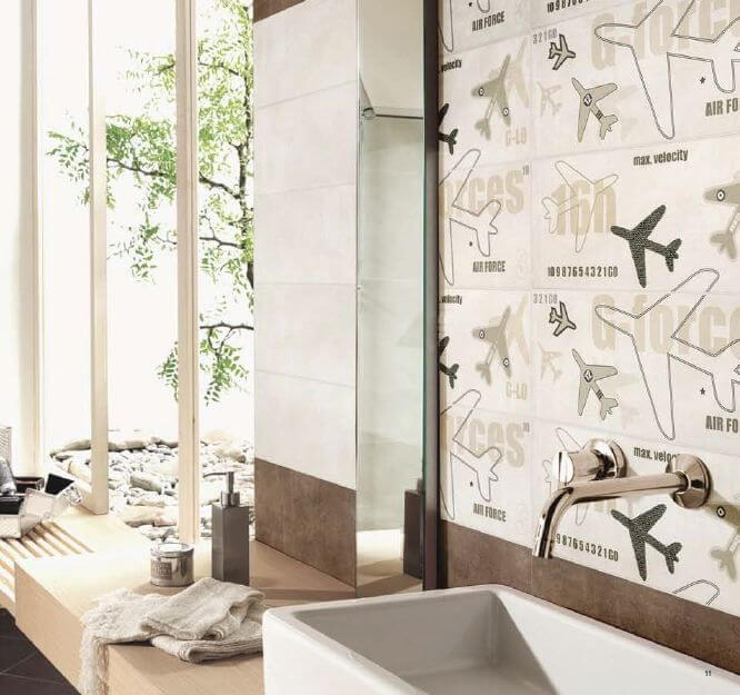 Aviation Inspired Bathroom Tile Design mod