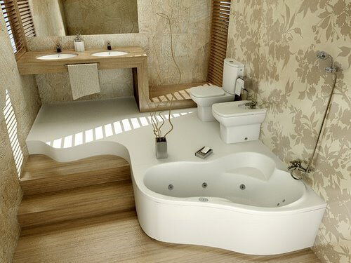 24 inspiring small bathroom designs apartment geeks for Awesome small bathroom design