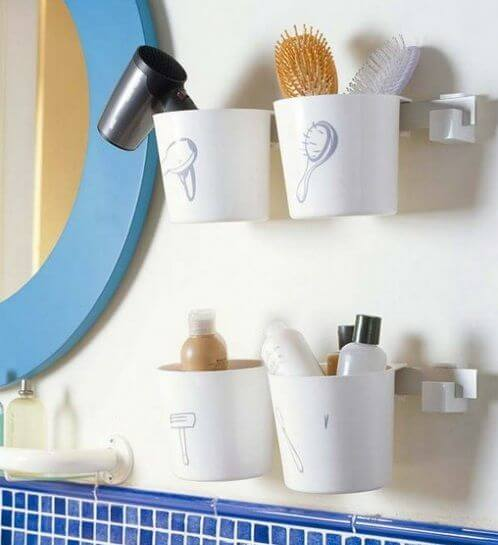 Plastic Cups Small Bathroom Storage mod