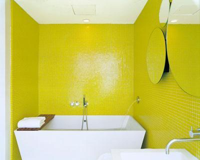 Simple Yellow Bathroom 2