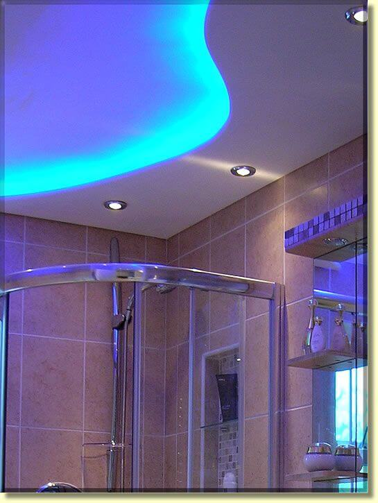 20 amazing bathroom lighting ideas apartment geeks sky blue ceiling bathroom lamp mozeypictures Gallery