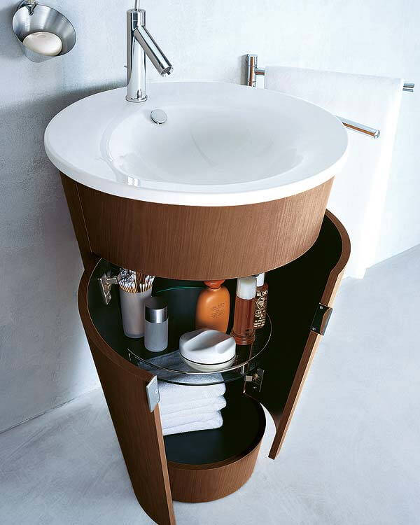 Sleek Cone Shaped Storage and Sink mod
