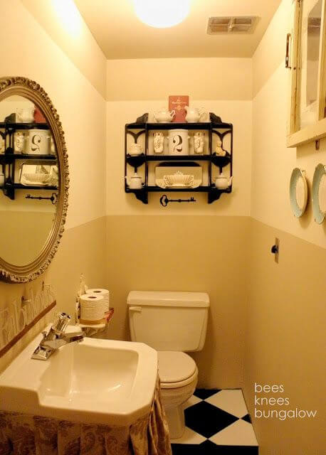 The Bee Knees Bungalow Small Bathroom mod