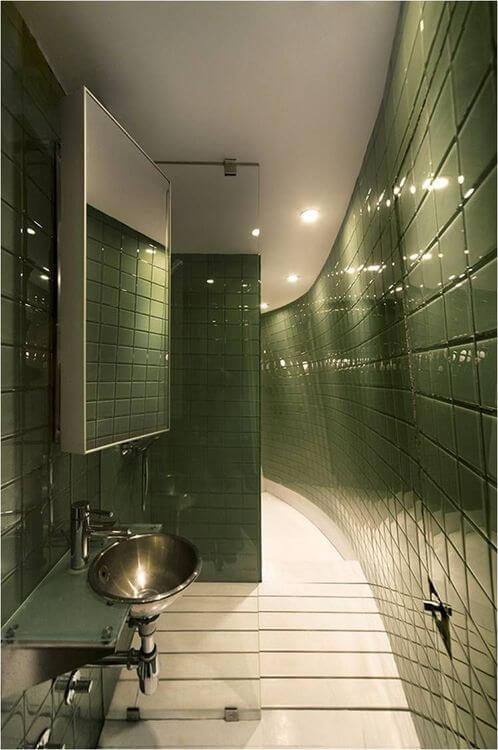 Modern Apartment Bathroom Ideas Part - 40: The Green Optical Illusion Decor