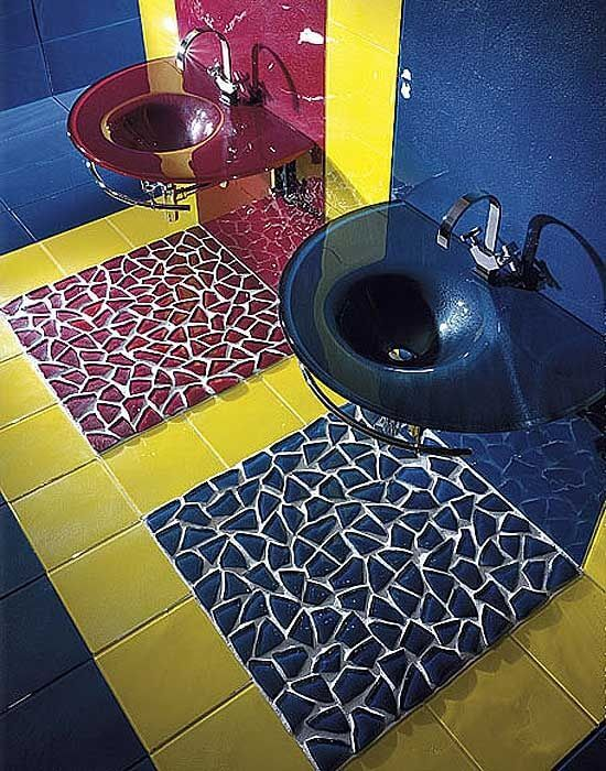 Vetrocolor Bathroom Tile Design