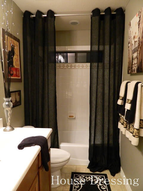 Victorian Bathroom Curtain decor mod
