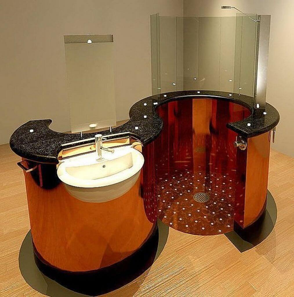 1 wooden low budget decor - Bathroom Designs Pictures
