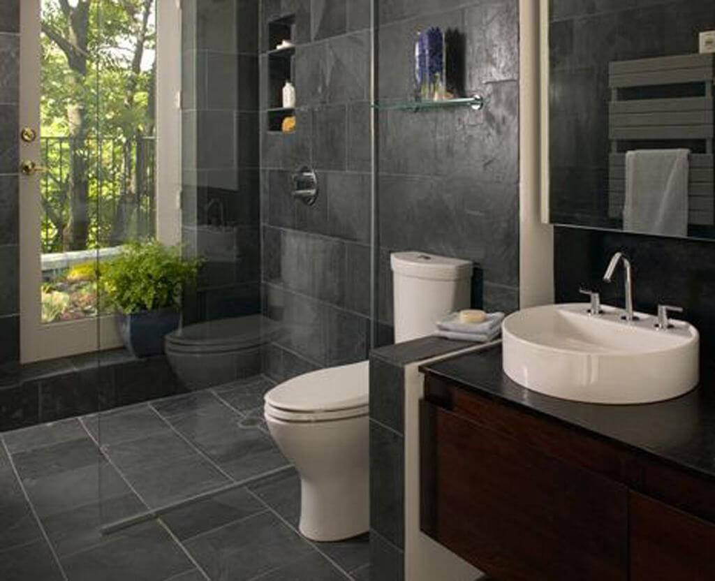 24 inspiring small bathroom designs apartment geeks for Small space bathroom designs