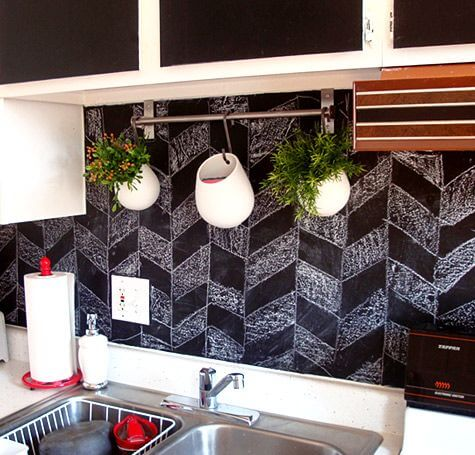 kitchen-blackboard-backsplash