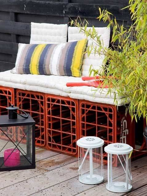 the garden is our star today and we want to show you some great ideas to create your own diy outdoor furniture cheap and easy - Garden Furniture Crates