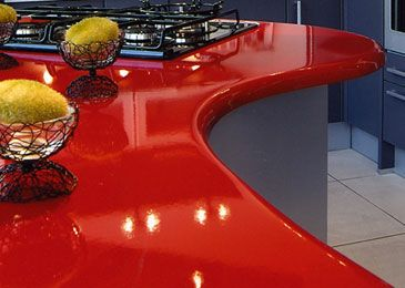 Countertop Paint Red : How to incorporate red countertops in your kitchen or bathroom ...