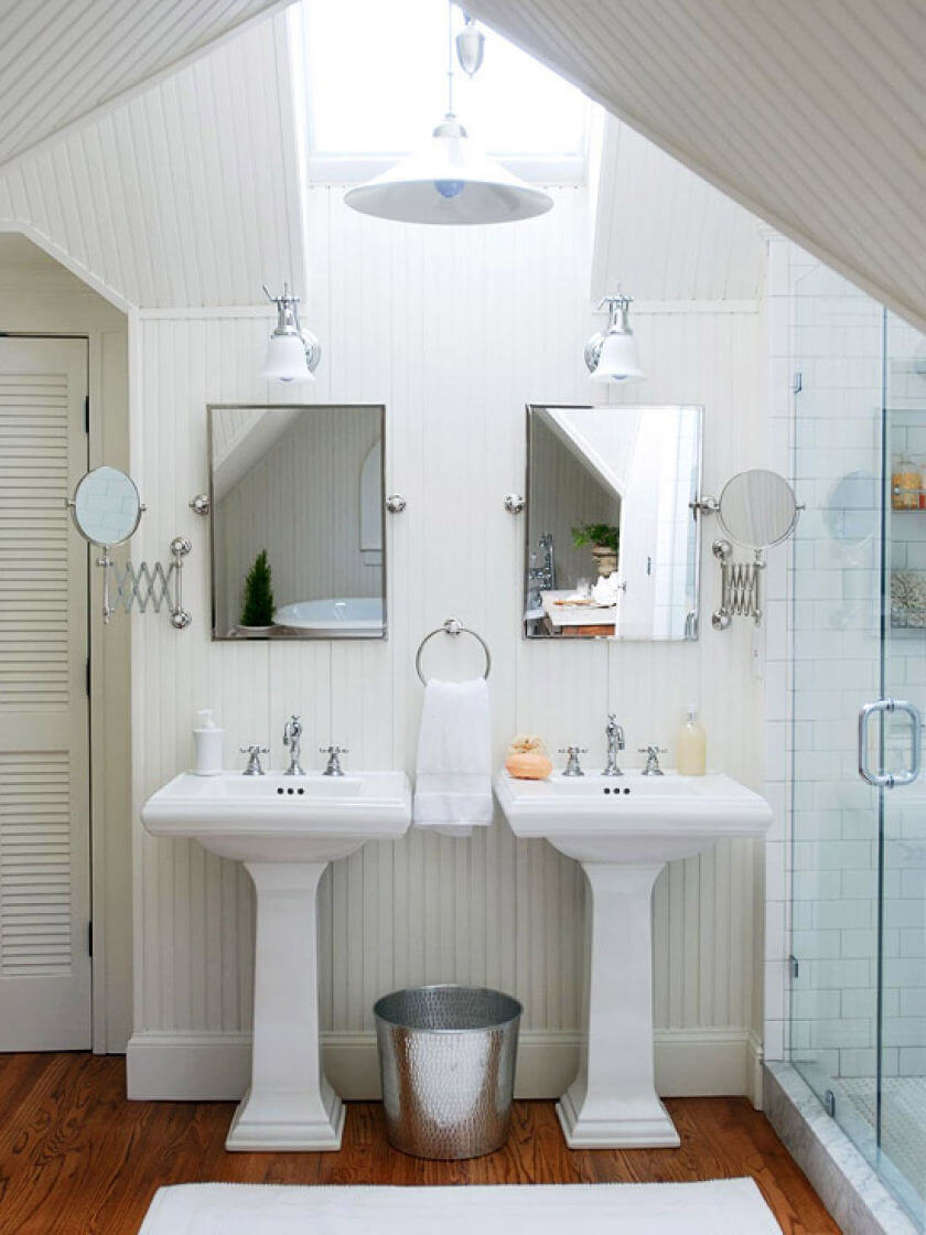 White Bathroom with Natural Lighting mod