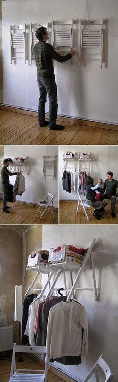Convert Folding Chairs into a mini closet mod