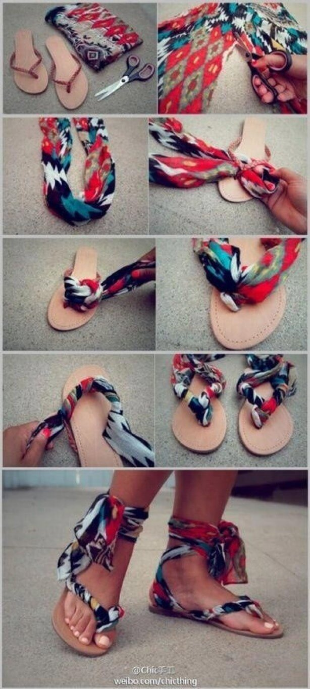 How to Make Summer Sandals mod