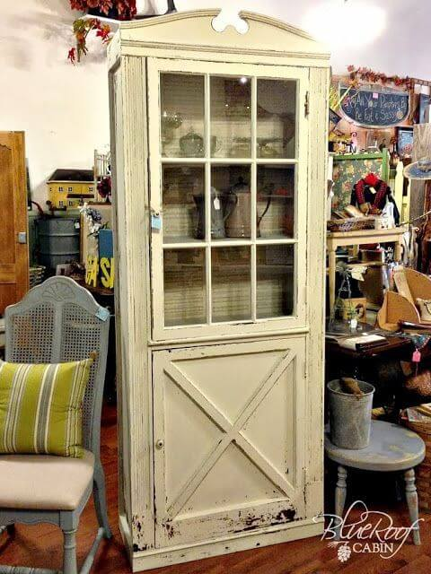 Vintage Door Front Turned into a Cabinet mod