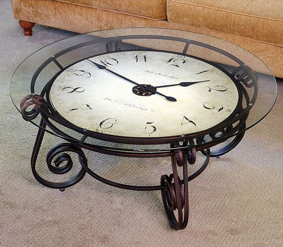 Vintage Clock Coffee Table mod