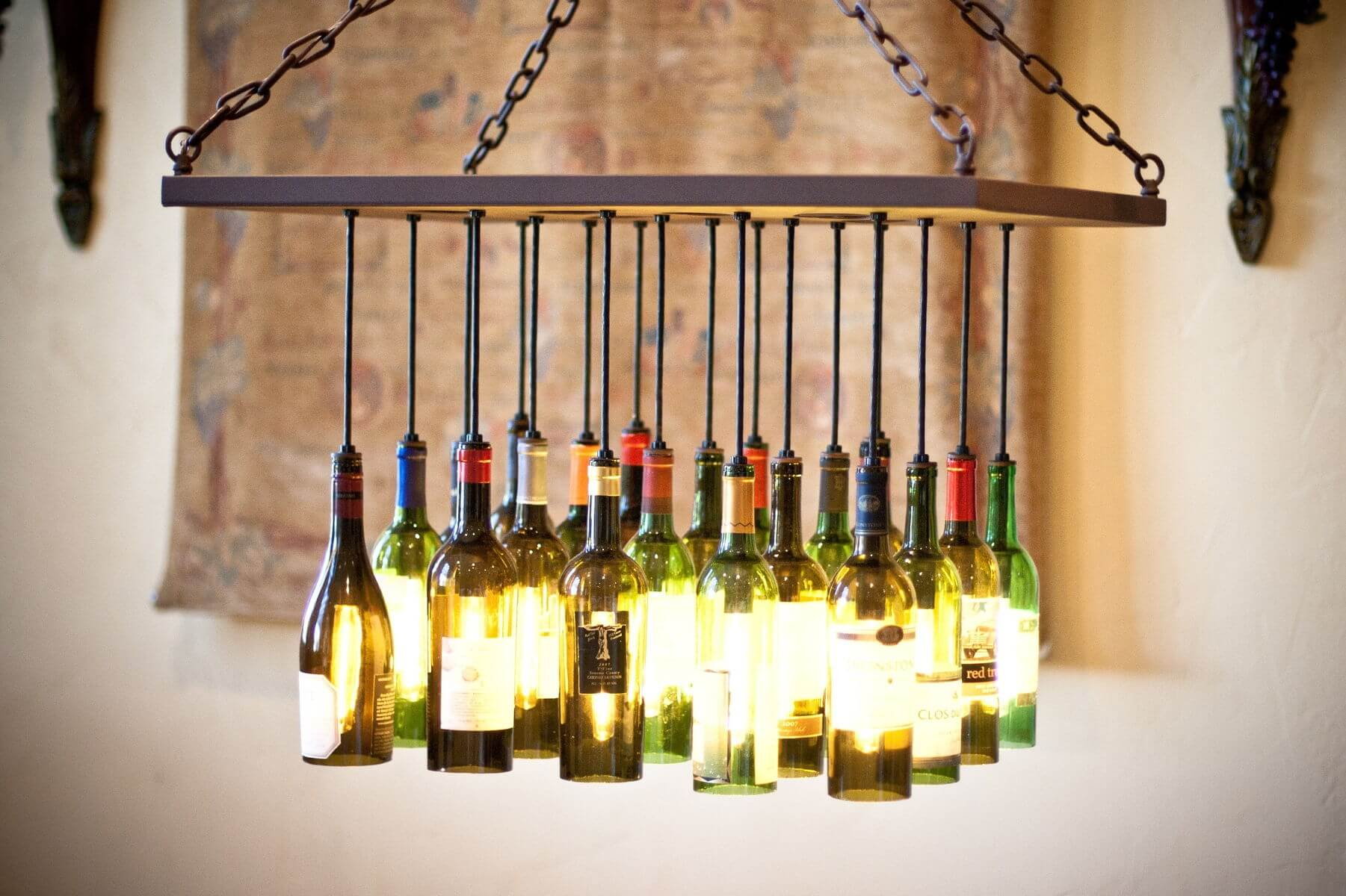 Wine Bottle Chandelier mod
