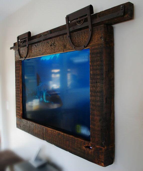Barn Wood and Hardware Frame