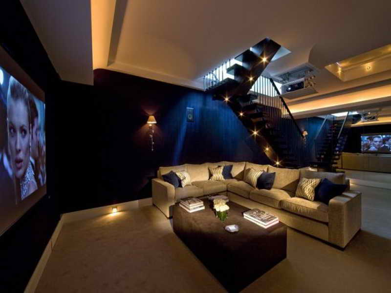 Basement Home Entertainment Room mod