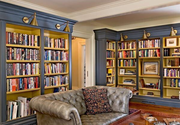 Bermuda blue home library