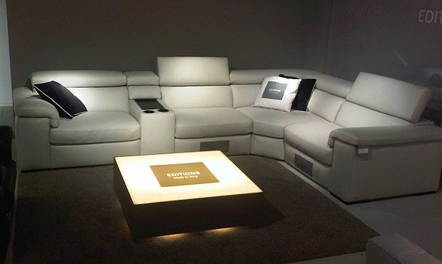 Fabio Leather Cinema sofa mod