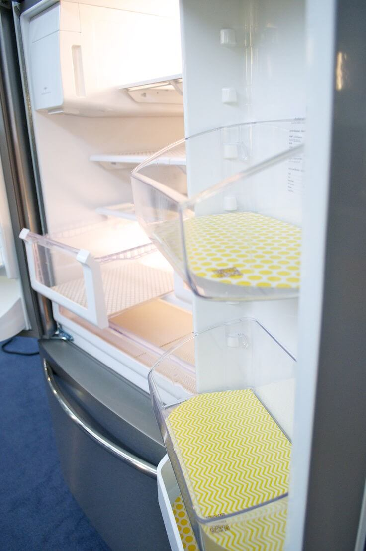 Fridge Coasters to absorb and keep the shelves clean mod