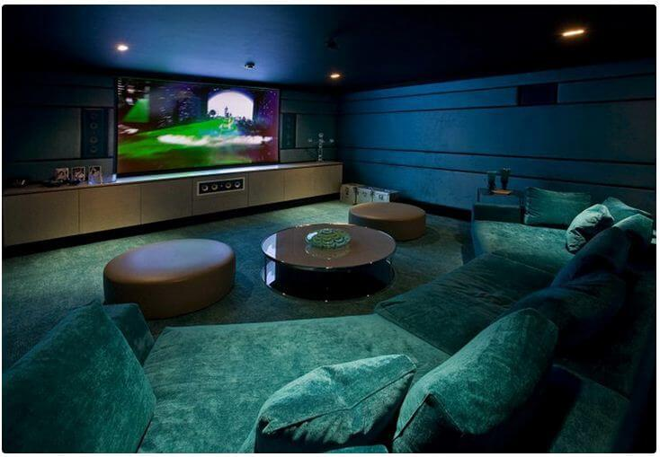 home theater design ideas with round table - Home Theater Design Ideas