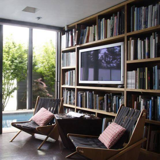 9 awesome frames for your flatscreen tv apartment geeks - What did the wall say to the bookcase ...