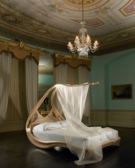 The Curvy Canopy Bed