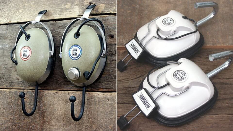 Vintage Headphone Cups Make For Wonderful Coat Hooks mod