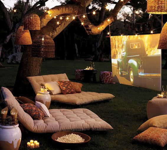 Yard Turned To Outdoor Cinema mod