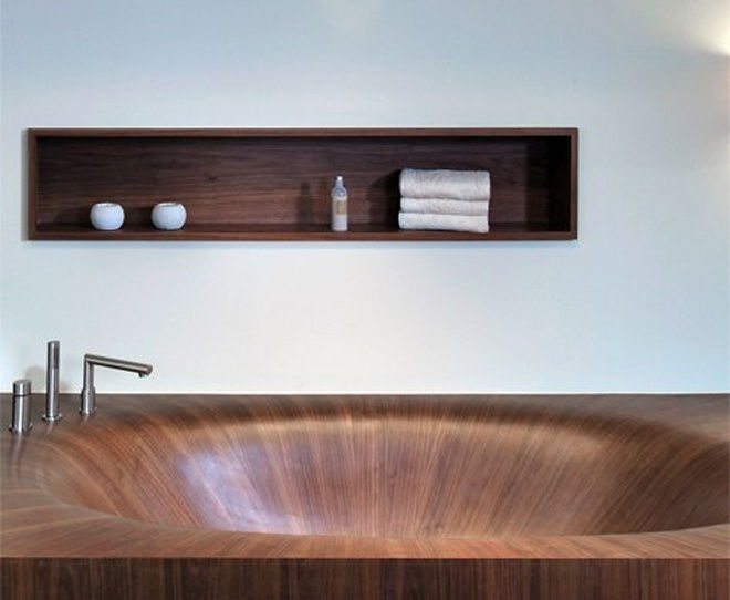 Alegna wood bathtub mod