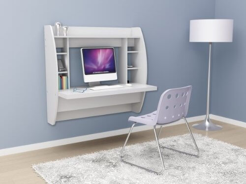 Charming Hanging Computer Desk. Perfect Idea For A Small Apartment ...