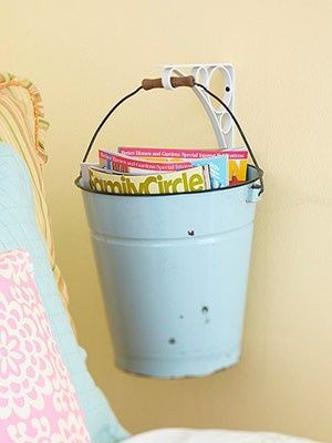 Bucket for a Beach Themed Bedroom