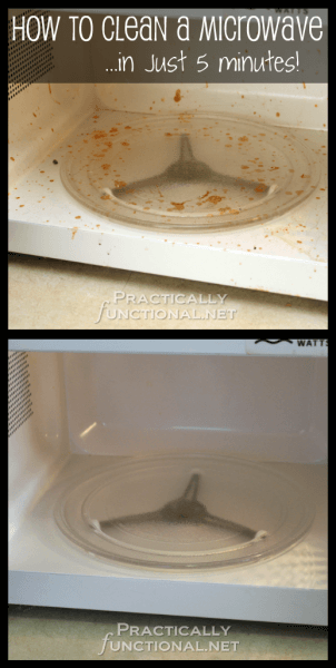 Cleaning a Microwave in 5 Minutes